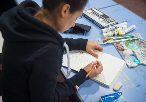 painting dot art class