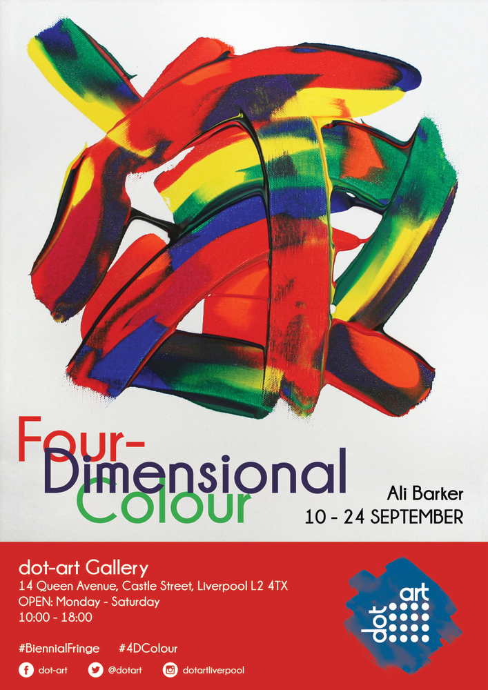 Four Dimensional Colour dot-art gallery poster