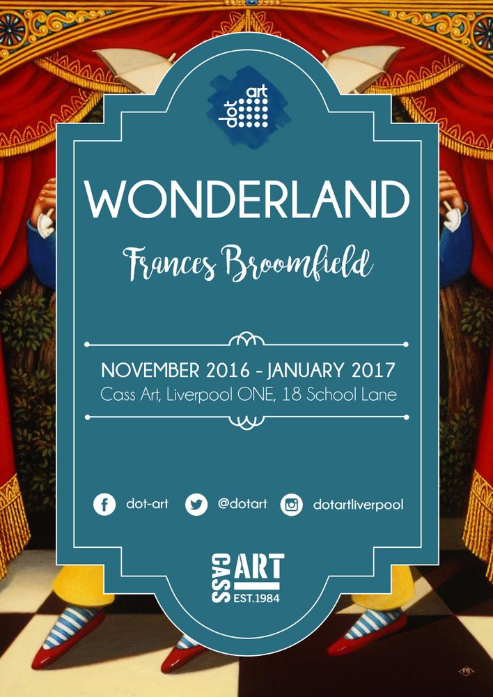 Wonderland at Cass Art by dot-art Frances Broomfield