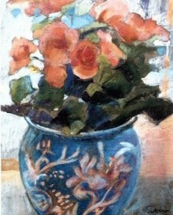 orange begonia by john sutherst