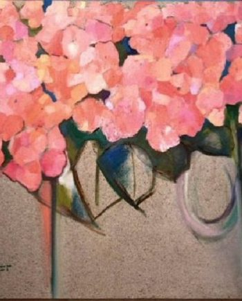 pink hydrangea by john sutherst