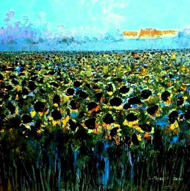 sunflowers by catherine evans jones
