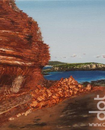 Sandstone Hilbre Island by Hazel Thomson