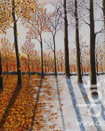 autumn to winter in the wood by hazel thomson