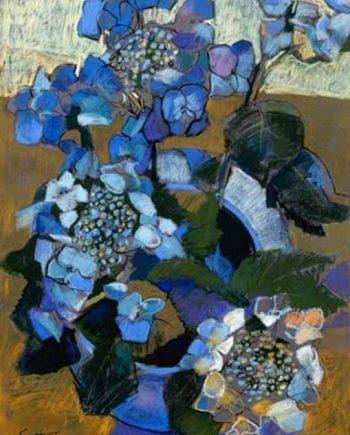 blue hydrangea II by john sutherst