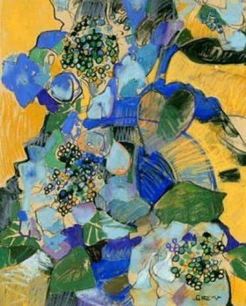 blue hydrangea I by john sutherst