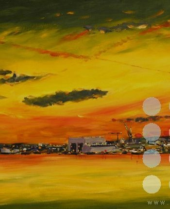 sunset cammell lairds birkenhead by roy munday