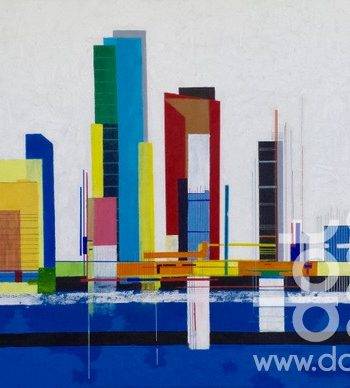 City (Composition 10) by Mike Rickett