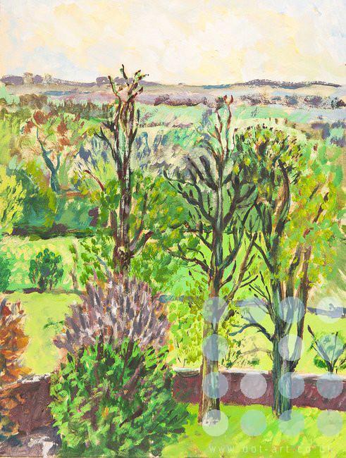 Landscape By Max Bullock Dot Art