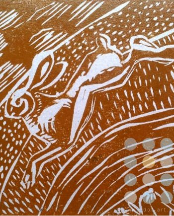 leaping hare brown by susan lee brown