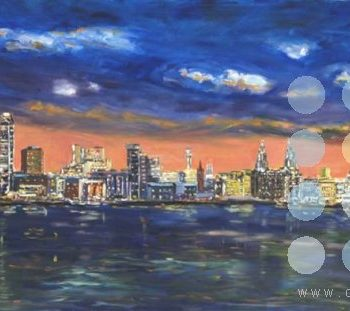 liverpool waterfront at night by roy munday