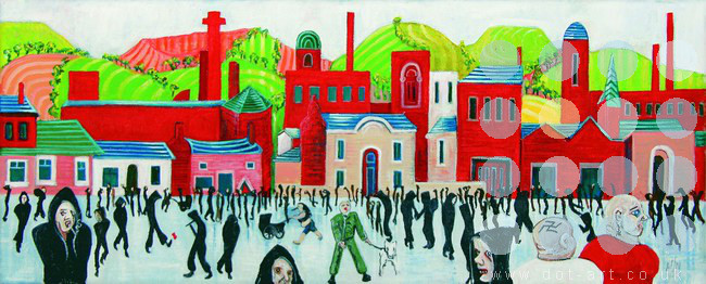 lowry street&#059; different faces by mark nelson