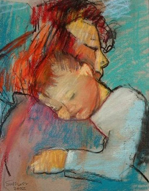 mother and child by john sutherst