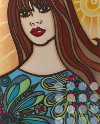 patterned dress by catherine evans jones