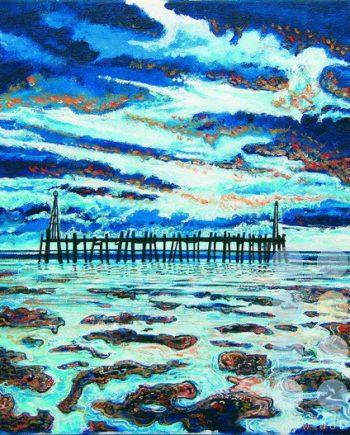 dark lytham the pier by mark nelson