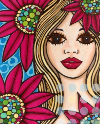 red daisies by catherine evans jones