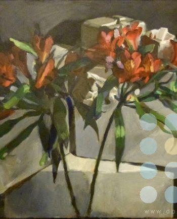 red flowers by katherine dereli