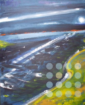 river in blue by winston douglas
