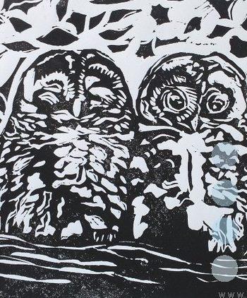 sleepy owls by susan lee brown