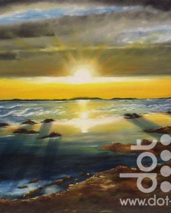 spectacular idyllic sunset by hazel thomson