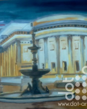 evening st. georges hall by susan lee brown