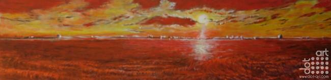sunset over merseyside by martin kavanagh