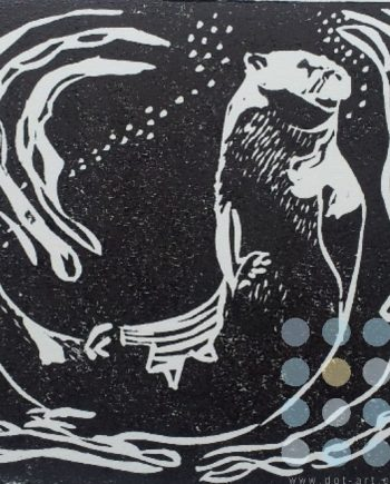 swimming otter by susan lee brown