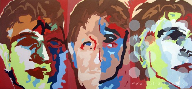 three studies for a self portrait by frank linnett