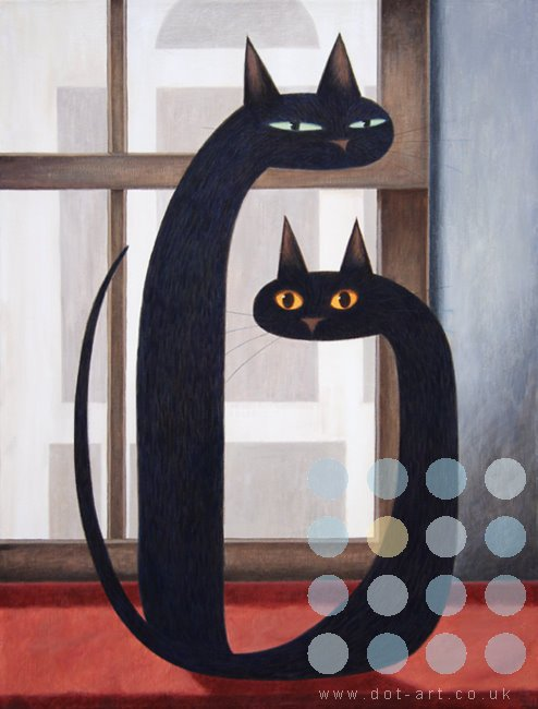 two cats by martin jones