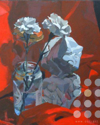 white carnations by katherine dereli