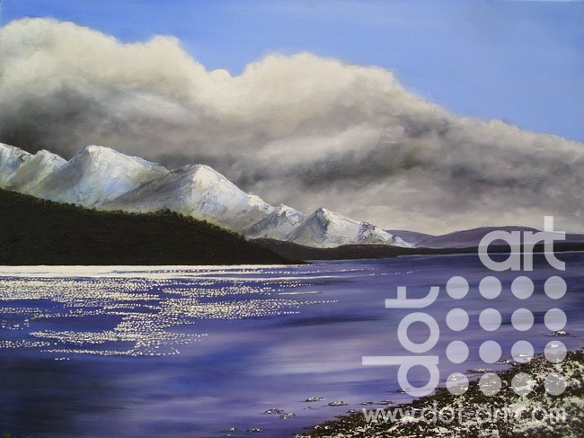 winter mountain loch by hazel thomson