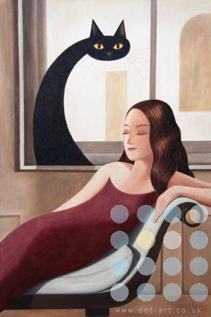 woman on a chaise longue by martin jones