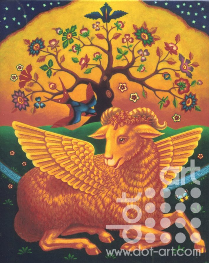 Lamb with the Golden Fleece by Frances Broomfield