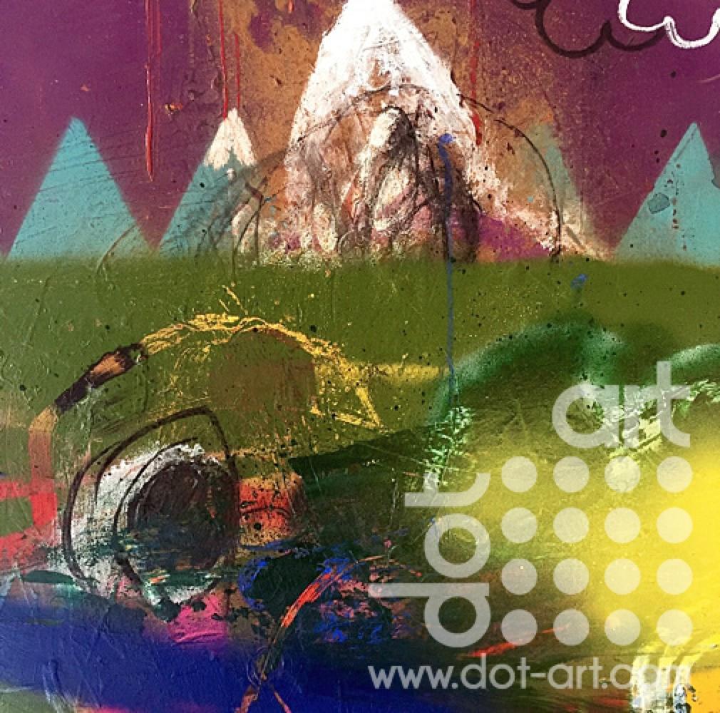Welsh Landscape Dot Art