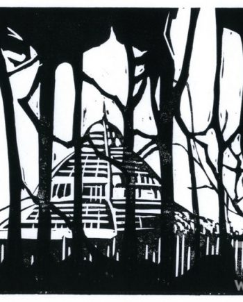 Palm House - Trees, Black & White by Michael James