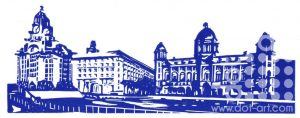 Three Graces – Blue & White by