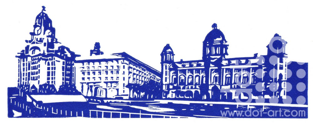 Three Graces - Blue & White by