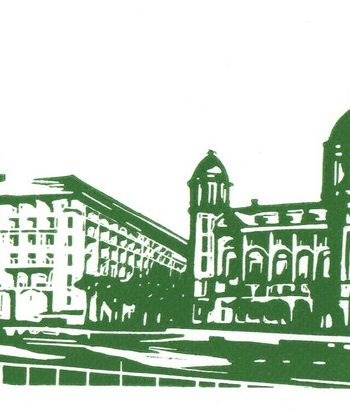 Three Graces - Green & White by