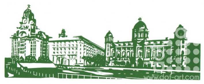 Three Graces – Green & White by