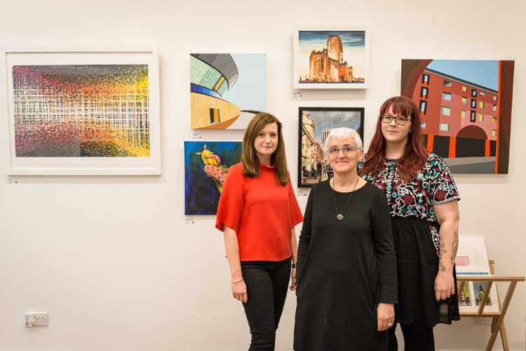 The dot-art team in the new gallery