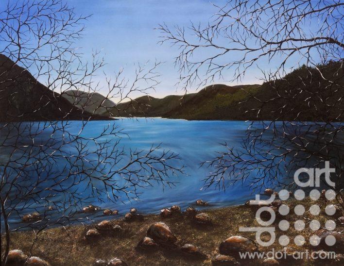 Shore at Dawn by Hazel Thomson