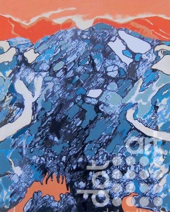 big mountain drawing 1 by david brighmore