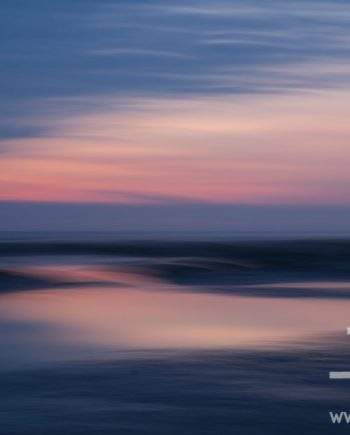Wet Sands at Sunset by