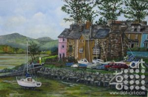 Harbour Borth-y-Gest by Beryl Jean Worth