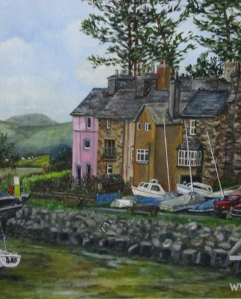 Harbour Borth-y-Gest by Beryl Jean Worth
