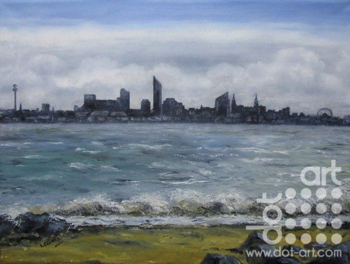 Liverpool Skyline by Beryl Jean Worth