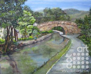 Llangollen Canal by Beryl Jean Worth