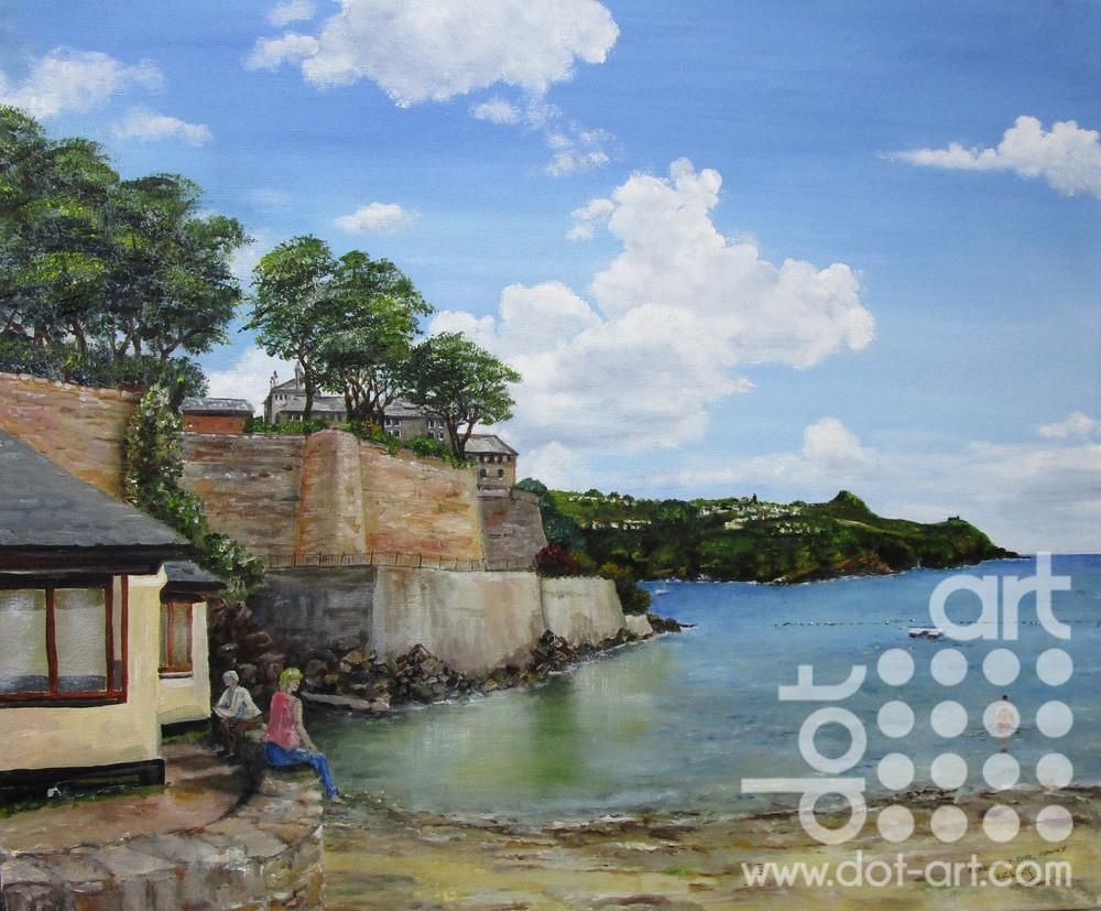 Readymoney Cove Fowey by Beryl Jean Worth
