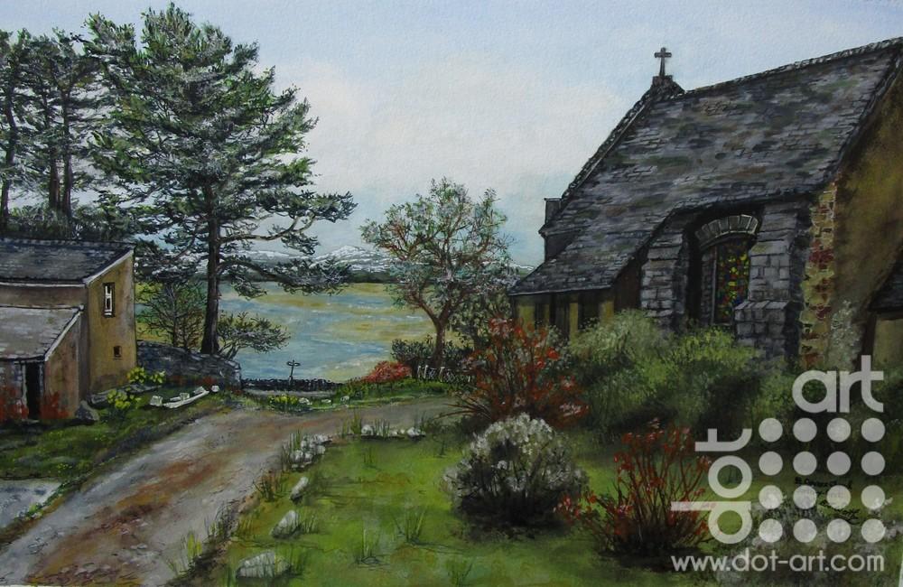 St Cyngars Borth-y-Gest by Beryl Jean Worth