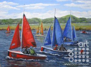 West Kirby Marina 2 by Beryl Jean Worth